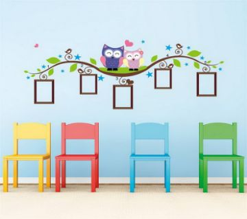 Retro Wall Sticker- Owl Photo Frame