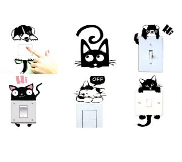 Sticker For Switch Board- Cute Animal Room Wall Decoration