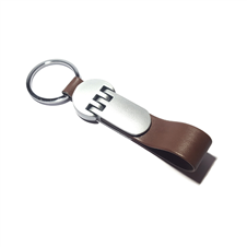 Brown Leather Keychain- BRL