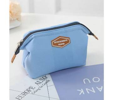 Colorful Cosmetic Bag- Sky Blue