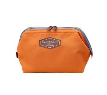 Colorful Cosmetic Bag- Orange