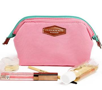 Colorful Cosmetic Bag- Pink