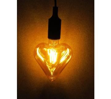 Antique Edison Light with Holder- Heart Shape