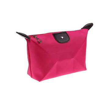 Compact Jewellery Bag- Rose Pink