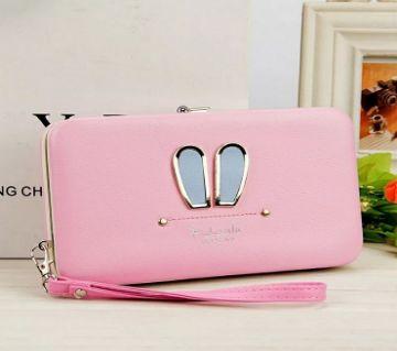 Rabbit Compact  Purse- Light Pink