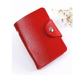 Credit Card Holder- Red
