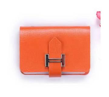 Exclusive PU Card Holder- Orange