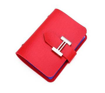 Exclusive PU Card Holder- Red