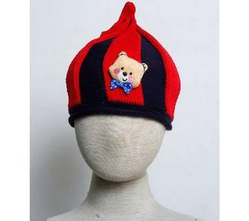 Kids Monkey Cap- Teddy (Red)