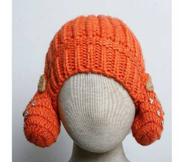 Kids Monkey Cap- Fruit (Orange)