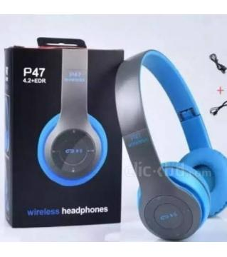 Wireless Bluetooth Headphone P47 Stereo Earphone with SD Card Slot.