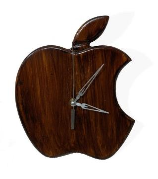 Exclusive wooden Apple wall clock