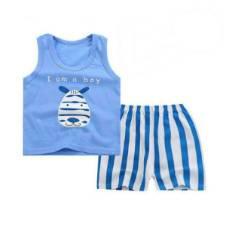 Baby Boy Sleeveless Dress Set