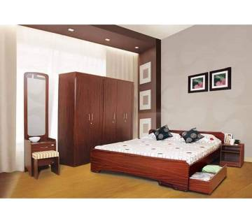 Malaysian process wood Discount Offer Bedroom set: BS 24