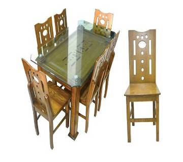wooden color Malaysian process wood dinning set