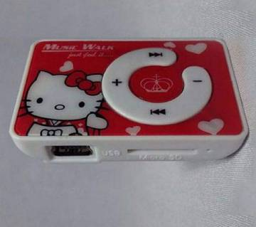Digital MP3 player with earphone (red)