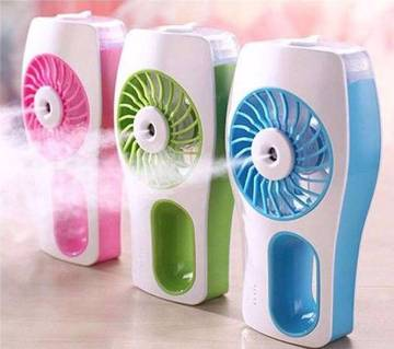 Portable rechargeable air conditioning fan