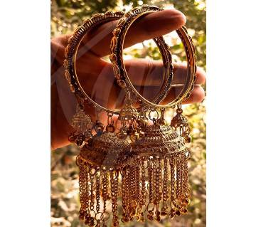 Antique Golden color Jhumka Churi