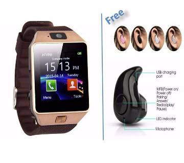 Sim Supported Smart Watch (Bluetooth Headset Free)