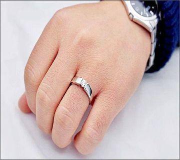 Silver Cubic Zircon Crystal Adjustable Rings