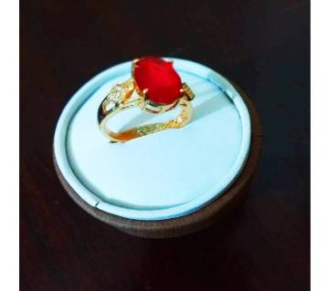 AD stone gold plated ring