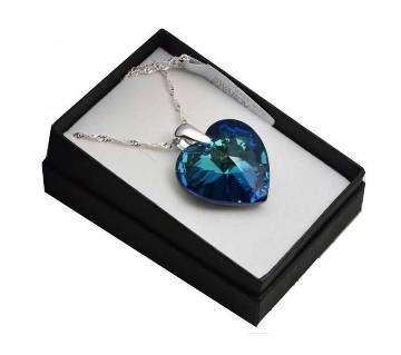 love blue color Titanic stone locket