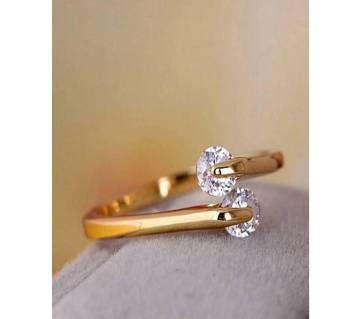 Multi-color Golden Finger Ring for Women