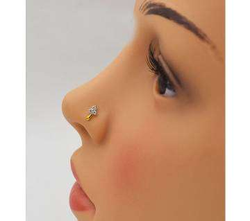 golden metal nose pin for women