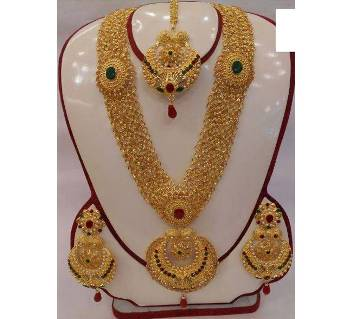 Indian gold plated jewellery set