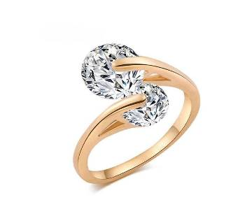 Rose Gold Plated Finger Ring For Woman With Gorgeous Box (100Y ear Color Guarantee)