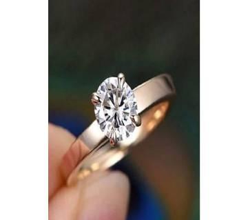 American Diamond Cut Ear Stone Set Finger Ring