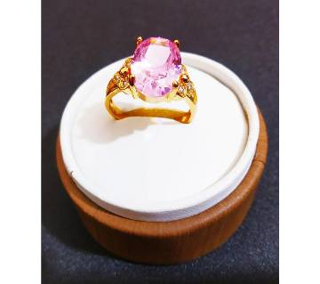 Rose Stone gold plated ring
