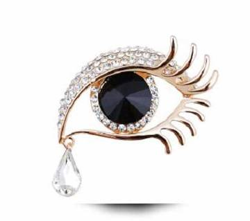 Crystal Big Eye Brooch