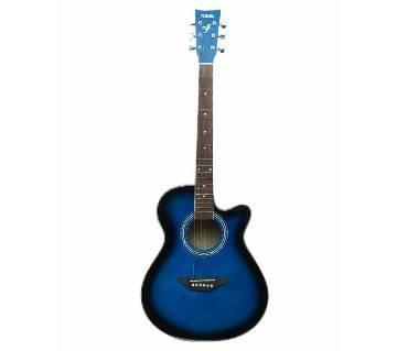 Yamaha Deep Blue Acoustic Guitar