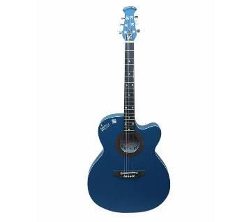 Signature Blue Acoustic Guitar