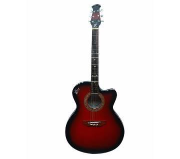 Signature Red Acoustic Guitar