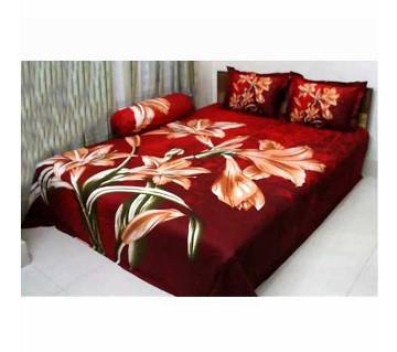 Piece of 4 Cotton Double Size Bed Sheet Set