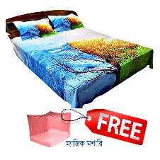 Original Home Tex Bedsheet set with Mosquito Net