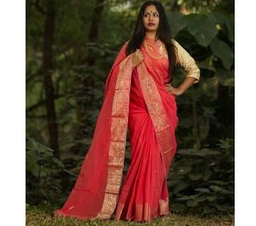 Gorgeous Designed Jamdani Half Silk Sharee