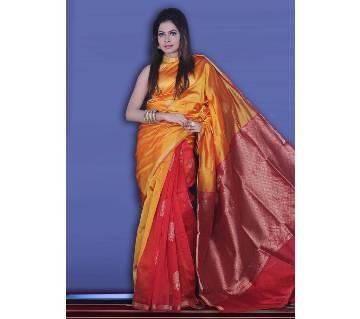 Silk Katan Sharee With Blouse Piece