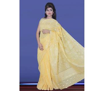 Jamdani Half Silk Sharee With Blouse Piece