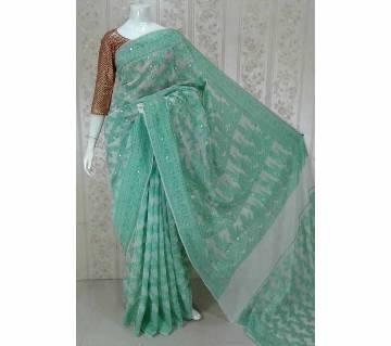 জামদানি হাফ সিল্ক শাড়ি বাংলাদেশ - 5492751