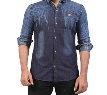 s.Oliver Denim full sleeve casual shirt- copy