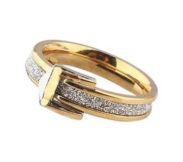 Golden Steel Finger Ring for Women