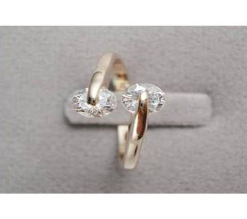 Rose Gold Plated hion Design Twin finger Ring
