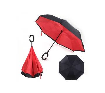 Windproof Inverted ছাতা - Red