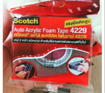3M Automobile Acrylic Foam Tape 4229P, Dark Gray