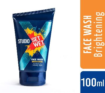 Set Wet Studio X ফেসওয়াশ ফর মেন (ব্রাইটেনিং) 100ml - India