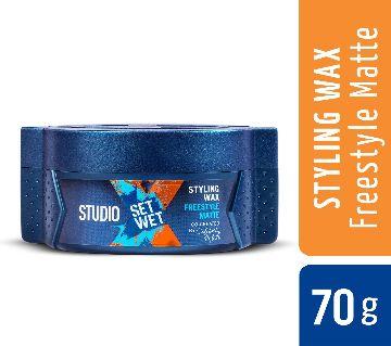 Set Wet Studio X হেয়ার স্টাইলিং ওয়াক্স ফর মেন - Freestyle Matte 70 gm