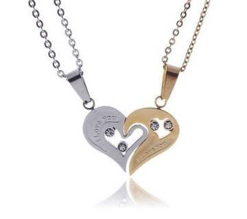 Valentine couple heart shaped pendant